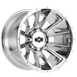 4 vision 391 Rebel 20x9 8x6 5 12mm Chrome Wheels Rims 20 Inch