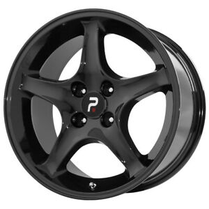 Replica 102b Mustang Cobra R 17x9 5x4 5 24mm Gloss Black Wheel Rim 17 Inch