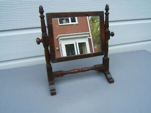 Swing Toilet Dresser Vintage Mahogany Mirror Small 13 5 Tall X 12 Wide