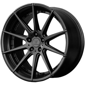 Staggered Verde Insignia Front 22x9 rear 22x10 5 5x130 42mm Black Wheels Rims
