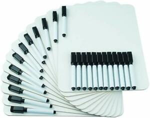 Dry Erase Lapboards Whiteboard Board 9 X 12 White Boards 24 Markers W Small Era