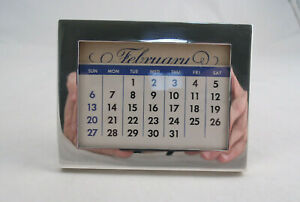 Tiffany Sterling Silver Photo Frame Perpetual Calendar