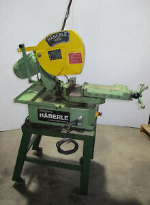 Haberle H315 Circular Cold Saw Metal Cutting Heavy Duty Made In Germany Nice