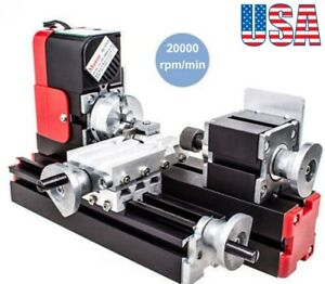 Mini Lathe Machine 12v Miniature Metal Multifunction Diy Lathe 20000rev min