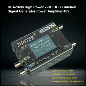 Dpa 1698 High Power 2 ch Dds Function Signal Generator Power Amplifier 40v Qg