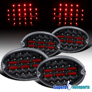 For 1997 2004 Chevy Corvette C5 Led Black Tail Lights Brake Lamps