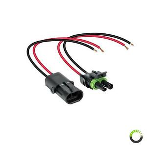 Ols 2 Wire Weather Pack Connector Kit Assembled With 10 12 Awg Wires