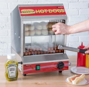 Electric Hot Dog Steamer Holds 175 Hotdogs 70 Buns Commercial Warmer Stand New