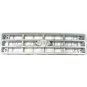 Grille For 89 91 Ford F 150 F 250 Silver Plastic