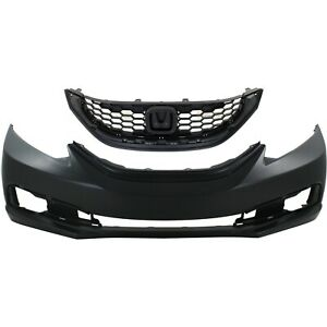 Bumper Cover Kit For 2013 2014 Honda Civic Front 4 Door Sedan 2pc