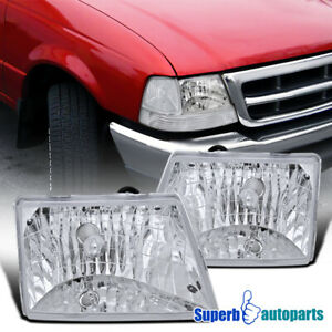 For 1998 2000 Ford Ranger Diamond Head Lights Lamps Head Lamps Replacement