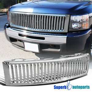 For 2007 2013 Chevy Silverado 1500 Abs Vertical Front Hood Grille