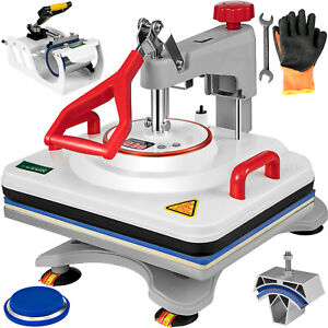 5 In 1 Heat Press Machine Digital Transfer Sublimation T shirt Mug Hat 12 x15