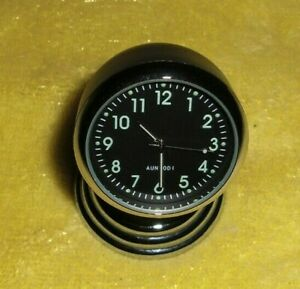 Vtg Style Chevy Ford Vw Split Window Black Dash Magnet Clock Hot Rat Rod 50s 60s