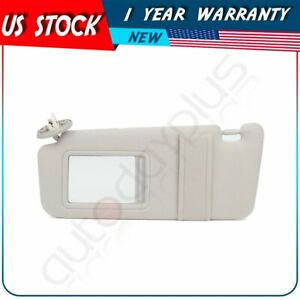 Driver Left Side Gray Car Sun Visor With Cover Trim Fits 2011 Toyota Venza