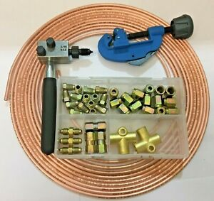 Mg Tf Brake Pipe Flaring Tool 3 16 Copper Pipe Metric Unions Set