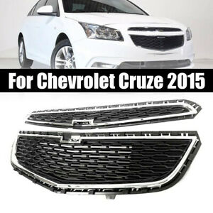 Front Bumper Upper Grill Middle Lower Grille Abs For Chevrolet Cruze 2015