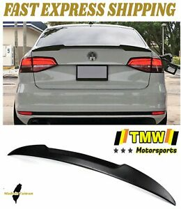 Unpainted V Type Rear Trunk Spoiler Wing Duckbill Lip Fit For Jetta Mk6 12 18