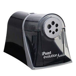 Ipoint Evolution Axis Heavy Duty Electric Pencil Sharpener Black silver