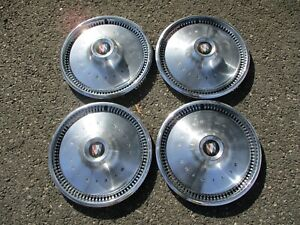 Factory 1970 To 1972 Buick Special 14 Inch Hubcaps Wheel Covers