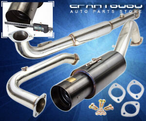 For 95 99 Mitsubishi Eclipse Gst Racing Catback Exhaust System 4 5 Muffler Tip