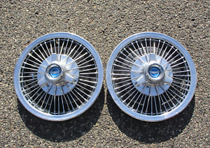 Factory 1967 Ford Mustang 14 Inch Wire Spoke Spinner Hubcaps Wheel Covers