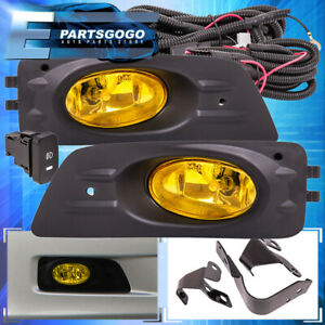 For 06 07 Honda Accord Sedan 4dr Yellow Bumper Driving Fog Lights Lamps Wiring