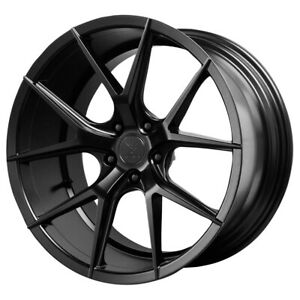Staggered Verde Axis Front 22x9 rear 22x10 5 5x114 3 38mm Black Wheels Rims