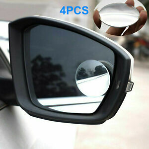 4pcs 360 Wide Angle Convex Car Blind Spot Round Stick On Rear View Side Mirror