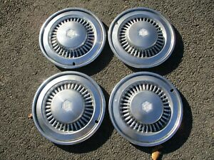 Genuine 1974 To 1977 Chevy Chevelle Malibu 15 Inch Hubcaps Beaters