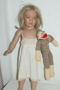 Vintage Child Mannequin With Monkey