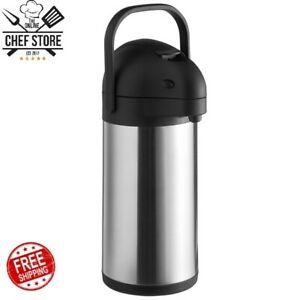 2 2 Liter 74oz Stainless Steel Lined Airpot Coffee Dispenser Lever Black Silver
