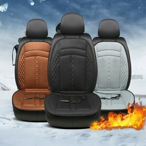 Car Heated Seat Cushion Cover Auto 12v Heating Heater Warmer Pad Winter Us