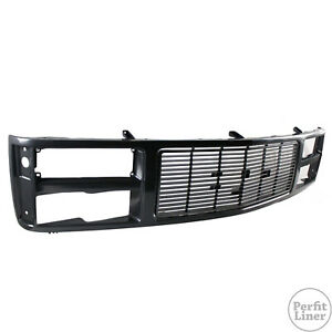 Front Black Grille Replacement For 88 93 Gmc C K 1500 2500 3500 Pickup Truck New