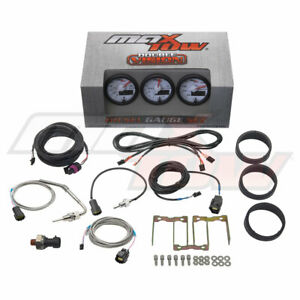 White Maxtow Double Vision Diesel Gauges 60 Boost 1500 Pyrometer