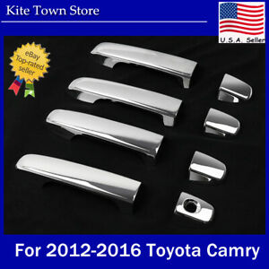 8x Chrome Trim Plated Door Handle Cover For 2012 2013 2014 2015 16 Toyota Camry