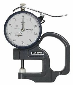 Mitutoyo 7300scal Dial Thickness Gauge Flat Anvil