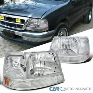 For Ford 98 00 Ranger Clear Headlights corner Turn Signal Lights Bumper Lamps