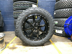20x9 Moto Metal Mo970 Black Wheels Rims 32 At Tires 5x5 Jeep Wrangler Jk Jl