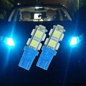 2x Ice Blue Led Back Up Reverse Light Bulbs 9 Smd Lamp T10 921 912 194 R6