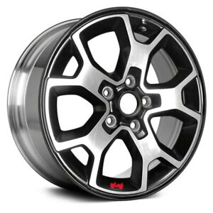 For Jeep Wrangler 18 19 Alloy Factory Wheel 17x7 5 10 Slot Polished Black W Red