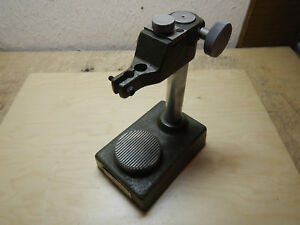 Older Mitutoyo Dial Indicator Checker Test Gage Stand Machinist Tool Jig Fixture