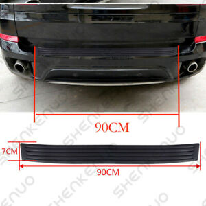 Universal Rear Guard Bumper Protector Trim Cover Sill Trunk Scuff Plate Rubbe