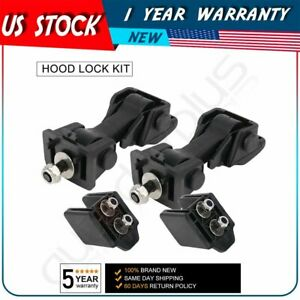 For 1997 2006 Tj Jeep Wrangler Locking Hood Latch Catch Bracket Abs Parts