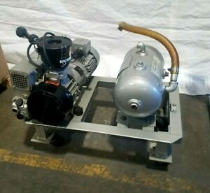 2007 Busch Ra025 Vacuum Pump Vacume With Receiver Tank Runs Perfectly