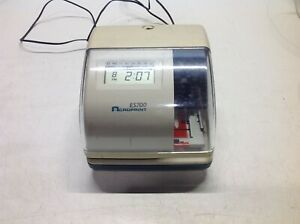 Acroprint Es700 Time Date Employee Time Recorder Clock No Lock