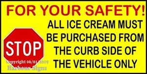 choose Your Size Safety Stop Curbside Decal Concession Ice Cream Truck Sticker