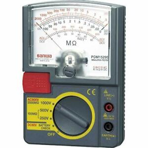 Sanwa Electric Meter Insulation Resistance Tester Pdm1529s Electronics