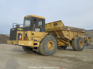 Caterpillar D30d Articulated Dump Truck 30 Ton Heated Cab 285 Hp 3306 Bidadoo