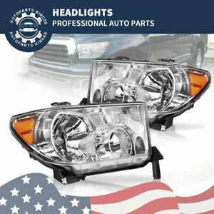 Headlights Replacement Pair For 2007 2013 Toyota Tundra 08 17 Sequoia Left Right